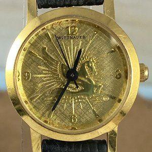 Vintage Accessories - Vintage Wittnauer Pegasus Gold Tone  Watch